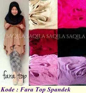 Grosir baju dan busana muslim fara top spandek pabrik Suplier baju gamis remaja harga pabrik bandung