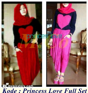 Grosir Baju Dan Busana Muslim Princess Love Full Set