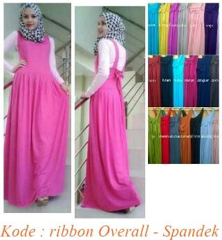 Grosir baju dan busana muslim ribbon overall spandek Suplier baju gamis remaja harga pabrik bandung