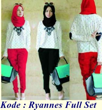 Grosir baju dan busana muslim ryannes spandek full set Suplier baju gamis remaja harga pabrik bandung